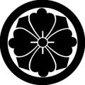 丸に四方剣花菱