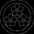 丸に三つ盛り梅